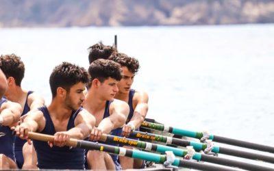 El equipo de remo del Real Club de Regatas de Alicante muestra su potencial en la VI Regata Liga Suma